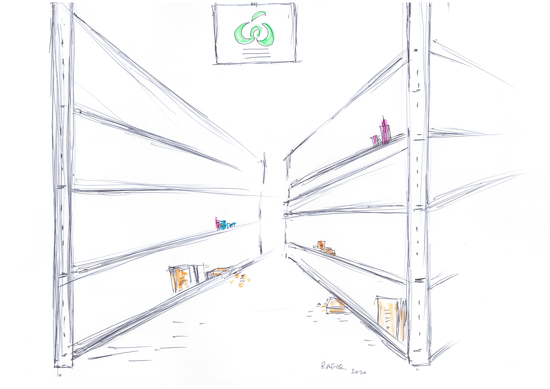 Rafigur Khan_Woolworths Empty Shelves