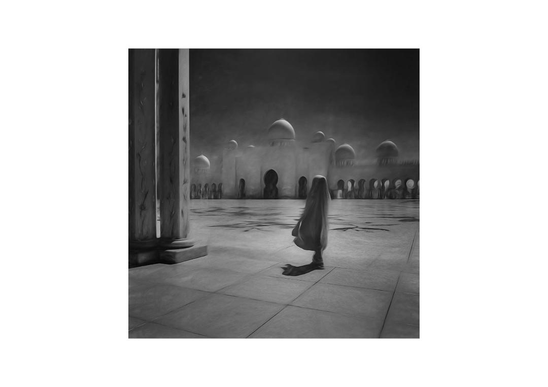 Federico Rekowski, Girl at the Mosque, 2019
