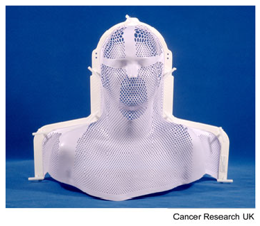 Mesh plastic mask for radiotherapy